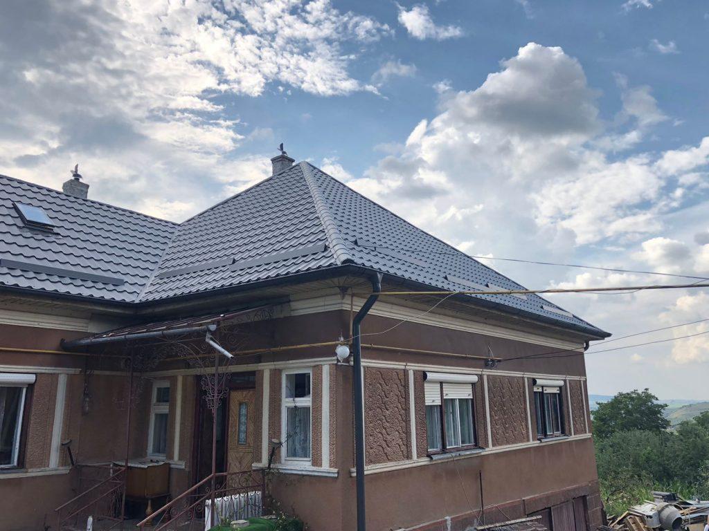 Acoperis cu tigla metalica clasica in localitatea Popești, Județul Cluj TectumSteel Cluj-Napoca